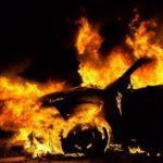На Рівненщині палали дві автівки