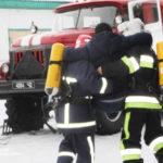 У Гощанському відділенні поліції гасили пожежу