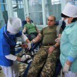 Військові стали донорами крові для хворих дітей