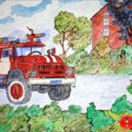 Рівненські дітлахи прийняли участь у міжнародному художньому конкурсі пожежних добровольців «Подорож у часі»