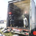 Горіла вантажівка в якій було 8 тон деревного вугілля