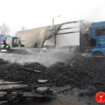 Біля Рівного загорівся вантажний автомобіль