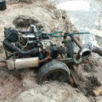 У північних районах Рівненщини правоохоронці вилучили чотири мотопомпи