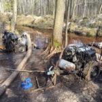 Три мотопомпи та обладнання вилучили правоохоронці на Рівненщині