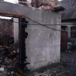 Згоріла господарча будівля