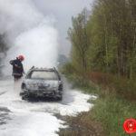 На Рівненщині вогонь знищив легковий автомобіль