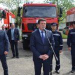 Віце-прем'єр вручив рятувальникам та ОТГ Рівненщини пожежну техніку