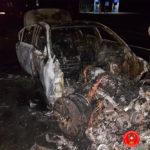 На Рівненщині згорів автомобіль марки «BMW»