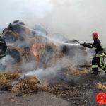 На Рівненщині горіло 10 тонн соломи