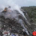 На Рівненському сміттєзвалищі ліквідовано займання сміття