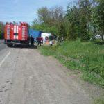 На Рівненщині у ДТП потрапила фура, водій травмований.