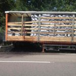 На Рівненщині загорівся напівпричіп з мішками деревного вугілля