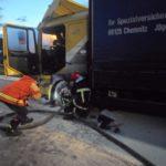 На автодорозі Київ-Чоп загорілась вантажівка