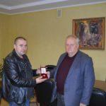 Учасники АТО передали Володимиру Хомку спеціальну відзнаку