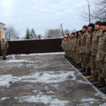 Військові правоохоронці з Рівного вирушили в АТО з чотирилапим другом породи Лайка
