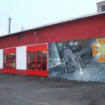 Сарненський пожежно-рятувальний підрозділ розписано у новітньому стилі стрит-арт на пожежну тематику