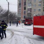У Рівному на Карнаухова була пожежа, дітей та дорослих евакуювали (відео)