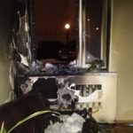 Поліцейські встановлюють зловмисника, який підпалив офіс у Рівному