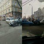 На Дубенській у ДТП потрапили три автівки (фотофакт)