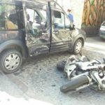 На Соборній ДТП: мотоцикліст з місця пригоди зник… (ФОТО)