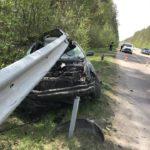 На Рівненщині ДТП: водій в'їхав у відбійник (ФОТО)