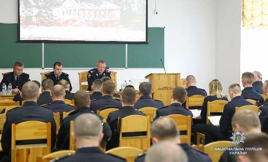 В Острозі Голова Нацполіції відкрив тренінг для поліцейських