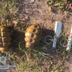 П'ять корпусів гранат із запалами, понад 400 патронів та три одиниці зброї вилучили поліцейські області
