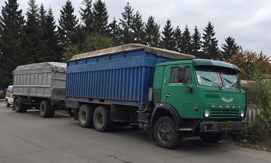 На Рівненщині вилучили вантажівку, яка перевозила лісопродукцію без відповідних документів