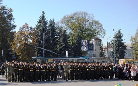 В Рівному клятву Військового ліцеїста склали першокурсники – діти 23 учасників бойових дій