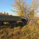 Перекинувся трактор – довелося викликати рятувальників