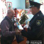 У Гощі поліцейські Рівненщини привітали ветерана війни з ювілеєм