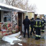 У Рівному стався вибух в торговому кіоску з продажу шаурми (ФОТО)