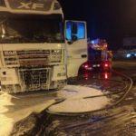 У Сарнах горів вантажний автомобіль з 25-ма тоннами мінеральних добрив