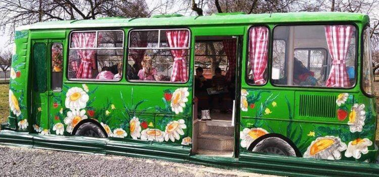 На Рівненщині навчальний клас облаштували в автобусі