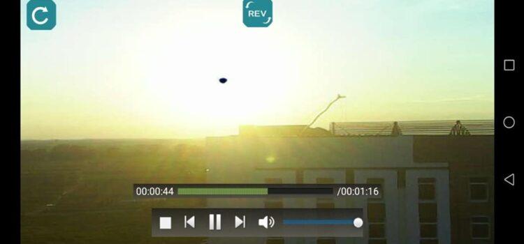 У Гощі камера зафіксувала над будівлею невідомий об'єкт