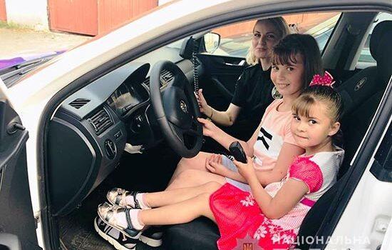 Поліцейські здійснили мрію маленьких кореччанок