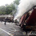 На Рівненщині зіткнулися дві вантажівки: одна особа травмувалася