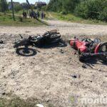 На Рівненщині не розминулися два мотоциклісти — троє осіб у лікарні