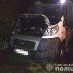 Поліцейські встановлюють причини загоряння автомобіля в Острозькому районі
