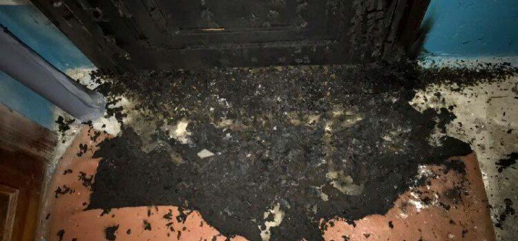 Поліцейські встановлюють обставини загоряння дверей квартири у Рівному