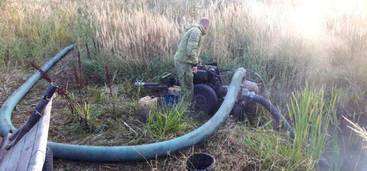 На Рівненщині поліцейські вилучили бурштин, обладнання для його видобутку та виявили старателів
