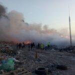 Поблизу Рівного горить сміттєзвалище