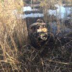 На Сарненщині поліцейські вилучили у старателя мотопомпу і бурштин-сирець
