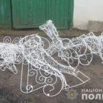 Поліцейські викрили зловмисників, які викрали новорічну інсталяцію у Рівненському районі